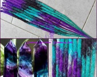 CUSTOM - based on inspo pic - synthetic or wool dreads 50DE/100 SE, crochet, hippie, goa, bohemian