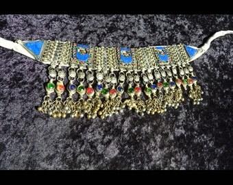 Kuchi choker, Kuchi neclace, tribal neclace, tribal choker, tribal belly dance, belly dance jewelry