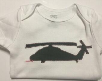 Pave Hawk Onesie, Sea Hawk, Balck Hawk 60, Helicopter shirt for toddler, helicopter onesie, helo shirt, 60