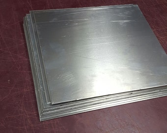 """10 pieces 1/8"""" Aluminum sheet 5052 scrap drop 10-1/2"""" x 12"""" DIY projects metal samples"""
