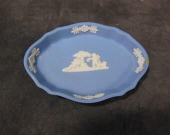 Wedgwood Jasper-ware Pale Blue Trinket Dish