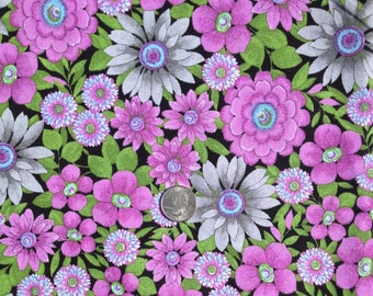 Fabric Traditions 2013 MIA MIA Purple Large Print Floral ~ 100% Cotton Fabric Fat Quarter/ FQ for Quilting & Crafts