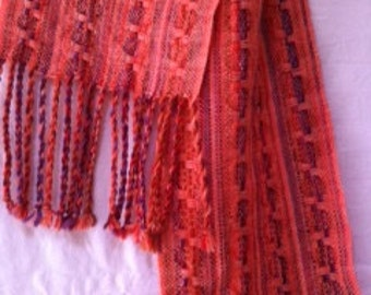 Handwoven, hand dyed ladies scarves