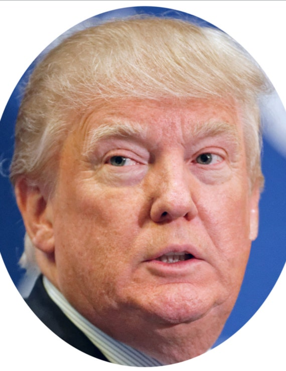 It is a graphic of Clean Donald Trump Mask Printable