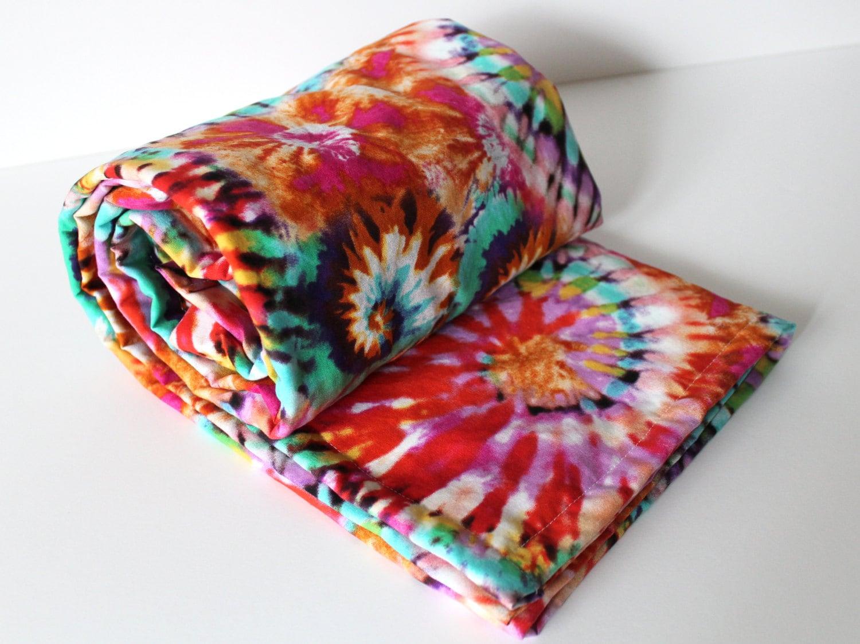 Tie Dye Baby Blanket Minky Baby Blanket Rainbow Baby