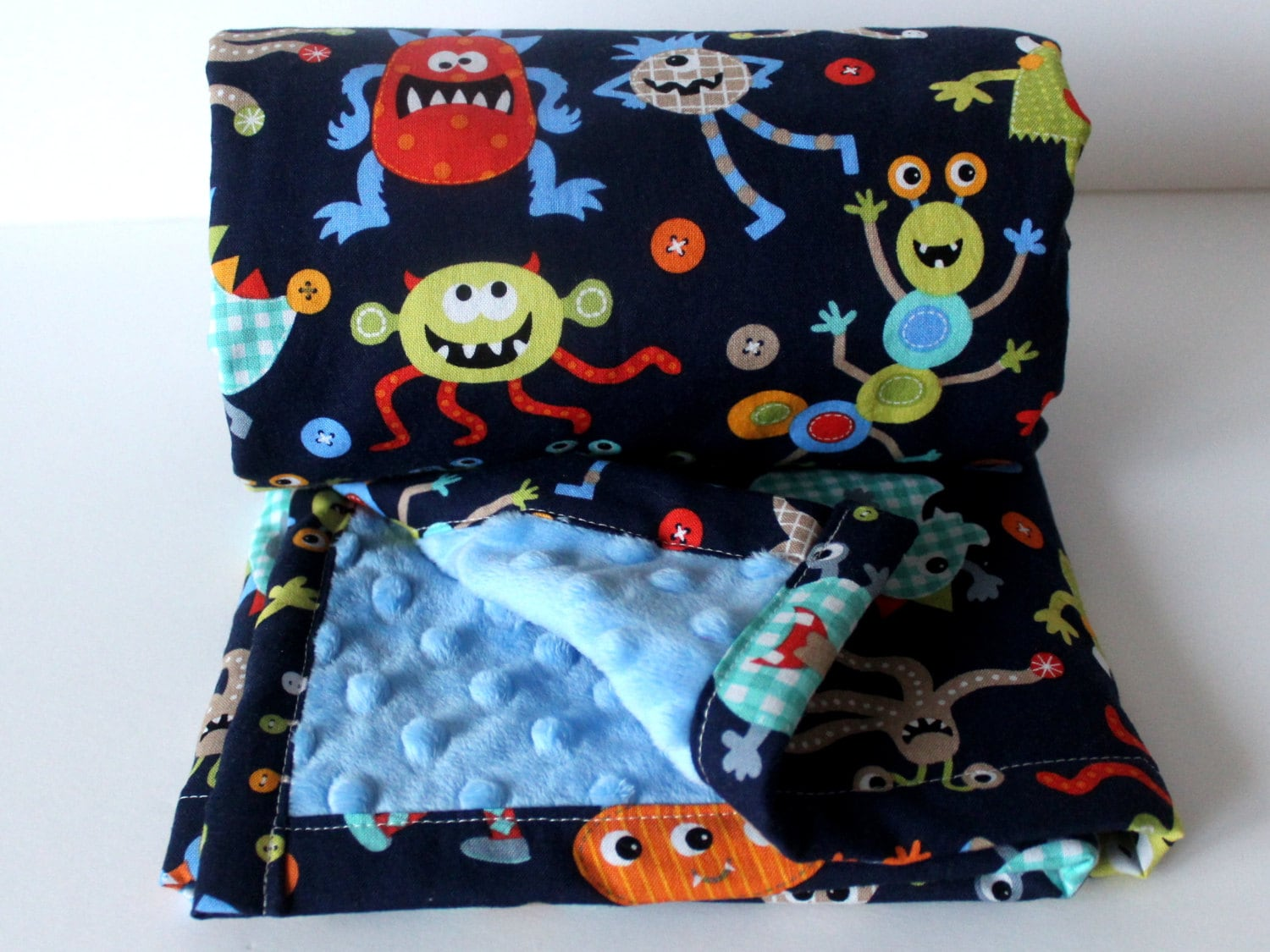 Minky baby blanket monster baby blanket boy minky blanket boy for Baby monster fabric