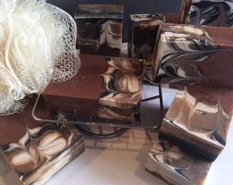 MOROCCAN CLAY SWIRL...Triple clay detox soap...Unisex soap loaded with skin nourishing butters