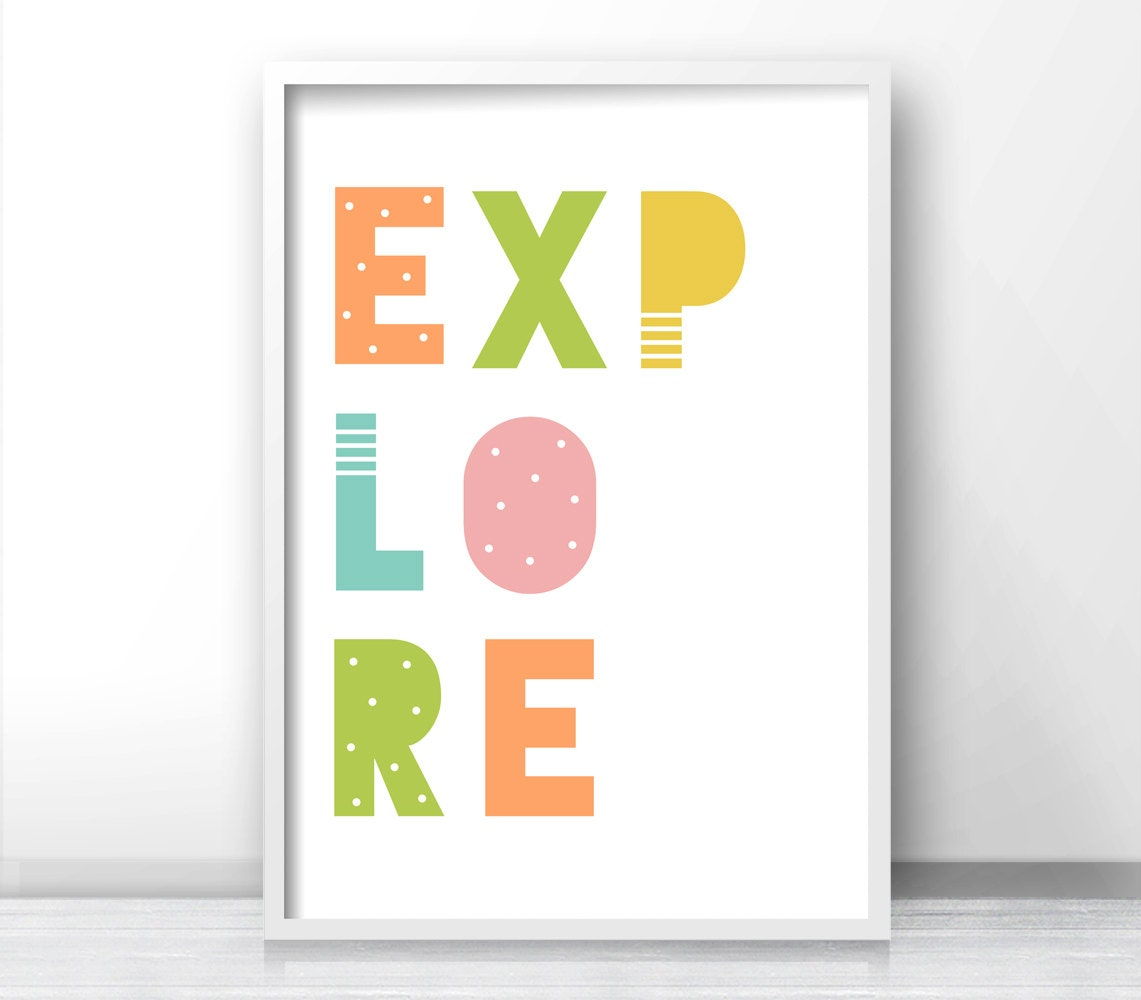 Explore Nursery Wall Art, Nursery Print, Printable Kids Art, Digital  Nursery Art, Playroom Decor, Instant Download Nursery Decor, Kids Print