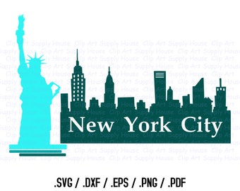 New York City Clipart Designs, Use With Cricut Design Space and Silhouette Software, DXF Files, SVG Font, EPS File, Svg Font - CA301