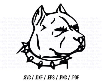 Pitbull SVG, Veterinary Office Wall Art, Dog SVG File for Vinyl Cutters, Screen Printing, Silhouette, Die Cut Machines, Pitbull Png - CA121