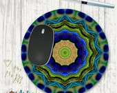 Peacock Feather Mouse Pad - Mouse Pad - Mousepad - Office Decor -Peacock Feather - Mandala - Art for the office - Boho Decor - Personalized