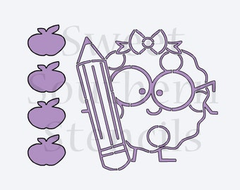 Girl Smart Cookie PYO Cookie Stencil