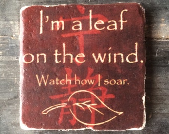 Leaf On The Wind Serenity Coaster or Decor Accent