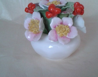 An Aynsley bone china posy of flowers and berries