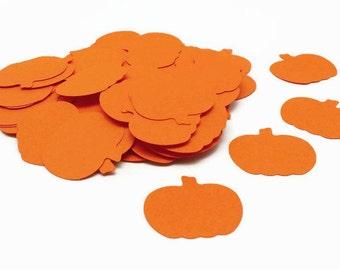 Pumpkin Confetti, Pumpkin Die Cuts, Pumpkin Punches, Fall Decor, Halloween Party, Orange Pumpkins, 100 Count