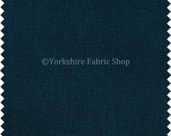 Durable Soft Quality Herringbone Chenille Upholstery Fabric Blue Colour For Interior Furnishing Furniture Curtain Sofa - Sold By The Metre