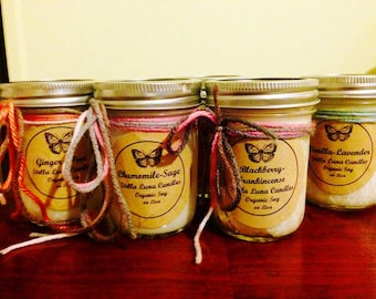 Sandlewood-Ginger Apple Handcrafted Essential Oil Candles