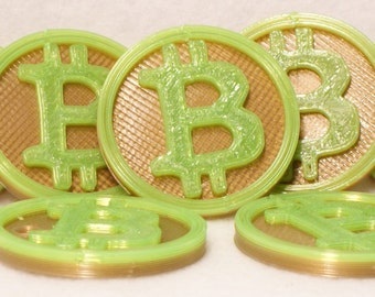 3D Printed Bitcoin Coin (buy 3 get 1 free)
