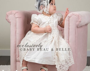 Christening Dress 'Keira', Baptism Dress, Girls Christening Outfit