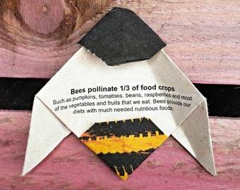 Plantable Paper Bee - Grows Wildflowers