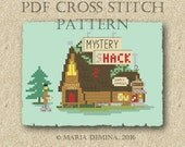 Mystery Shack (Gravity Falls) PDF cross stitch pattern/ modern, parody, primitive / instant download