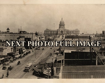 1919 Austin Texas Vinage Panoramic Photograph Panorama
