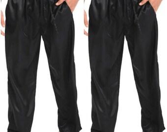 Men's satin pajama pants