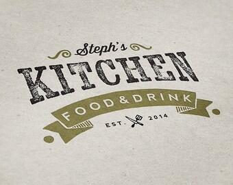 Premade Logo Design, Restaurant Logo, Eatery Logo, Premade Custom Logo Design, Bar Logo, Kitchen Logo, Handmade Logo, Food Logo