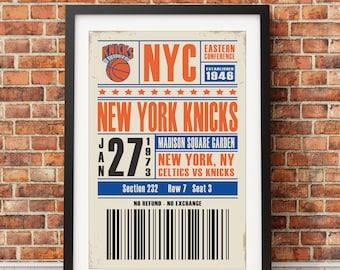 New York Knicks Ticket Poster