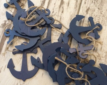 Nautical Favor Tags, Anchor Favors, Baby Shower Favors, Wedding Favors, Birthday Favors, Bridal Favors, Beach Wedding,
