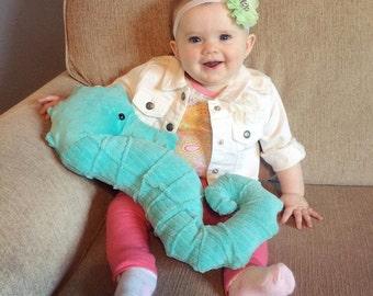 Minky Seahorse Pillow/plushie