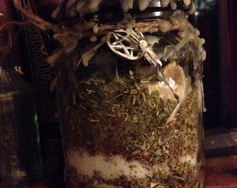 Hex Breaker Witch Bottle, Battery, Wicca Spell, Pagan, Charm, Protection,