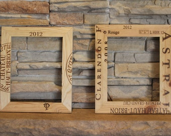 Wine Crate Picture Frames