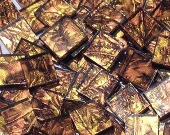 Gold Copper Van Gogh Glass Mosaic Tiles