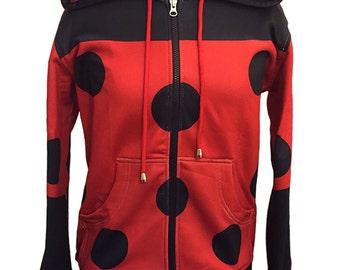 Miraculous Ladybug Inspired Hoodie