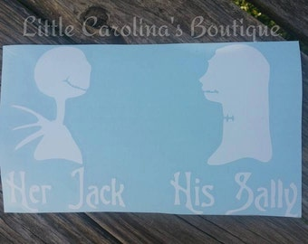 Jack & Sally Couple Decal