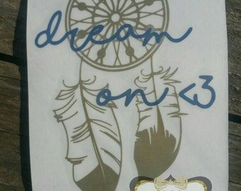 Dream On Dream Catcher Decal