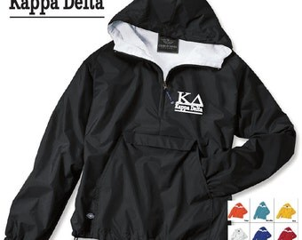Kappa Delta // KD // Sorority Charles River Rain Jacket // Choose your color