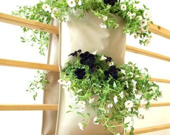 Vertical Garden Pocket Planter - Invivo large saddle - vanilla