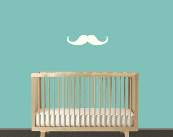 Mustache wall decal, mustache sticker, baby room stickers, boy's room decal, baby room decal, nursery decal, nursery decoration, home decor