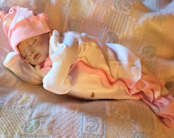 Reborn baby, preemie , comes with extras, ready to ship