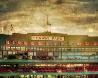 Fenway Park - Red Sox Print - Vintage Sports Decor - Boston Red Sox Canvas - Vintage Baseball Decor - Green Monster Print - Boston Red Sox