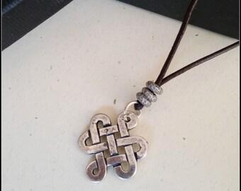 Mens Protection Pendant, Man Celtic Necklace, Celtic Knot Necklace, Celtic Talisman, Wiccan Pendant, Healing Necklace