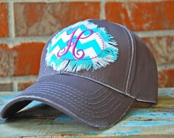 Monogrammed Cap-Monogrammed Cap-Cap with Monogrammed Patch-Monogrammed Hat-Monogrammed Baseball Cap-Dark Gray Cap-Charcoal Cap-Grey Cap-Cute