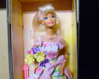 Spring Petals Barbie Doll Blonde Hair