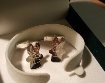 Sterling Silver twins Bunny and top hat