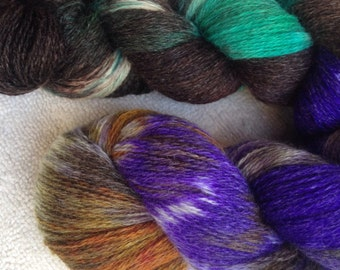 Laceweight cashmere knitting yarn, crochet, kettle dyed yarn, luxury, 800yds