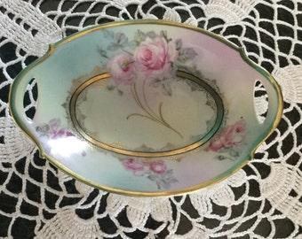 BAVARIAN Handpainted Gold Trimmed # 23 Vanity Dish