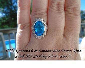 8 ct London Blue Topaz Ring