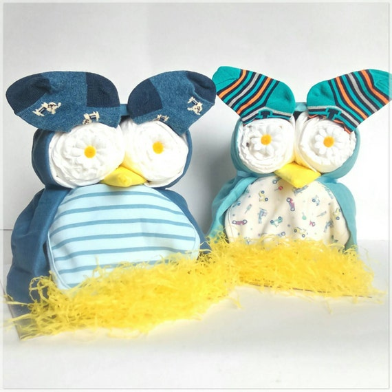 Cool Baby Boy Gifts Uk : Owl nappy cake baby boy shower gift by babypamperhampers